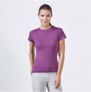 Camiseta de mujer de manga corta entallada Jamaica 6627 de Roly. 545b67c9832d1